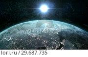 Купить «Close up of the Earth turning on itself», видеоролик № 29687735, снято 31 марта 2016 г. (c) Wavebreak Media / Фотобанк Лори