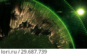 Купить «Close up of the Earth turning on itself», видеоролик № 29687739, снято 31 марта 2016 г. (c) Wavebreak Media / Фотобанк Лори