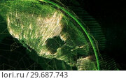 Купить «Close up of the Earth turning on itself», видеоролик № 29687743, снято 31 марта 2016 г. (c) Wavebreak Media / Фотобанк Лори