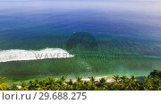 Купить «View of beautiful sea», видеоролик № 29688275, снято 11 июня 2016 г. (c) Wavebreak Media / Фотобанк Лори