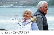 Купить «Senior couple enjoying together», видеоролик № 29693727, снято 29 сентября 2016 г. (c) Wavebreak Media / Фотобанк Лори