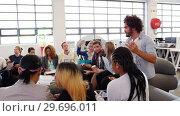 Купить «Group of business executives applauding during meeting», видеоролик № 29696011, снято 27 апреля 2016 г. (c) Wavebreak Media / Фотобанк Лори