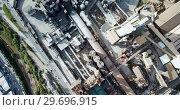 Купить «View from drone of cement plant industrial area, Catalonia, Spain», видеоролик № 29696915, снято 25 декабря 2018 г. (c) Яков Филимонов / Фотобанк Лори