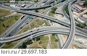 Купить «Image of car interchange of Barcelona in the Spain.», видеоролик № 29697183, снято 12 июня 2018 г. (c) Яков Филимонов / Фотобанк Лори