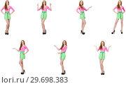 Купить «Beautiful woman in green skirt», фото № 29698383, снято 17 января 2019 г. (c) Elnur / Фотобанк Лори