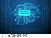 Купить «Quantum computing as modern technology concept», фото № 29698907, снято 20 марта 2019 г. (c) Elnur / Фотобанк Лори
