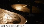 Купить «Drummer playing drum in studio», видеоролик № 29700187, снято 23 ноября 2016 г. (c) Wavebreak Media / Фотобанк Лори