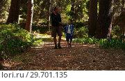 Купить «Father and son interacting with each other in the park», видеоролик № 29701135, снято 2 марта 2017 г. (c) Wavebreak Media / Фотобанк Лори