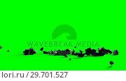 Купить «Dollar sign falling against green screen», видеоролик № 29701527, снято 30 мая 2017 г. (c) Wavebreak Media / Фотобанк Лори