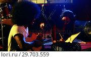 Couple rehearsing music on concert 4k. Стоковое видео, агентство Wavebreak Media / Фотобанк Лори