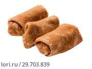 Купить «Pancake stuffed isolated», фото № 29703839, снято 9 января 2019 г. (c) Угоренков Александр / Фотобанк Лори