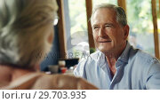 Senior couple interacting with each other 4k. Стоковое видео, агентство Wavebreak Media / Фотобанк Лори