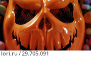 Купить «Halloween mask with sweet foods 4k», видеоролик № 29705091, снято 26 мая 2017 г. (c) Wavebreak Media / Фотобанк Лори
