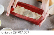 Купить «Woman preparing dough surrounded with various ingredients 4k», видеоролик № 29707007, снято 5 мая 2017 г. (c) Wavebreak Media / Фотобанк Лори