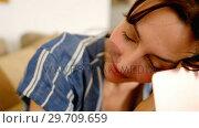 Купить «Emotional mother looking at baby lying in the crib 4k», видеоролик № 29709659, снято 8 ноября 2017 г. (c) Wavebreak Media / Фотобанк Лори