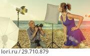 Купить «Professional photo shooting outdoors», фото № 29710879, снято 5 октября 2018 г. (c) Яков Филимонов / Фотобанк Лори
