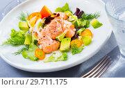 Купить «Delicious ceviche with salmon», фото № 29711175, снято 16 июля 2019 г. (c) Яков Филимонов / Фотобанк Лори