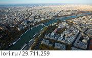Купить «Panoramic view of Paris cityscape», фото № 29711259, снято 10 октября 2018 г. (c) Яков Филимонов / Фотобанк Лори
