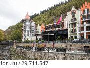 Купить «New hotel Crowne Plaza in Borjomi», фото № 29711547, снято 26 сентября 2018 г. (c) Юлия Бабкина / Фотобанк Лори