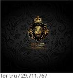 Купить «Emblem with golden Lion», иллюстрация № 29711767 (c) Миронова Анастасия / Фотобанк Лори
