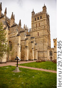 The south side of Exeter Cathedral. Exeter. Devon. England (2009 год). Стоковое фото, фотограф Serg Zastavkin / Фотобанк Лори