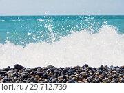 Купить «Pebble on the seashore», фото № 29712739, снято 2 июня 2018 г. (c) Икан Леонид / Фотобанк Лори