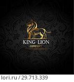 Купить «Emblem with golden Lion», иллюстрация № 29713339 (c) Миронова Анастасия / Фотобанк Лори