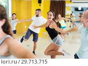 Купить «Young men and women dancing swing», фото № 29713715, снято 21 июня 2017 г. (c) Яков Филимонов / Фотобанк Лори