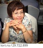 Купить «Portrait of a mature thoughtful woman.», фото № 29722899, снято 7 июня 2017 г. (c) Акиньшин Владимир / Фотобанк Лори