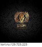 Купить «Emblem with golden Lion», иллюстрация № 29723223 (c) Миронова Анастасия / Фотобанк Лори