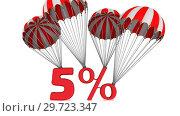 Купить «Скидка в размере пяти процентов», видеоролик № 29723347, снято 14 января 2019 г. (c) WalDeMarus / Фотобанк Лори