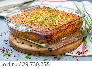 Traditional potato kugel gratin. Стоковое фото, фотограф Марина Сапрунова / Фотобанк Лори