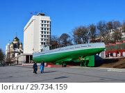 Купить «Мемориальный комплекс подводная лодка С-56 и Управление и штаб Тихоокеанского флота во Владивостоке в ясную погоду», фото № 29734159, снято 3 января 2019 г. (c) Овчинникова Ирина / Фотобанк Лори