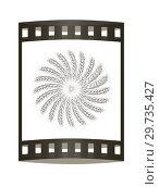 Купить «3D illustration of a metal wreath made of wheat spikelets. Design element. 3d render. Film strip.», фото № 29735427, снято 17 сентября 2019 г. (c) Guru3d / Фотобанк Лори
