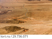 Купить «aerial view of road in grand canyon desert», фото № 29736071, снято 1 марта 2018 г. (c) Syda Productions / Фотобанк Лори