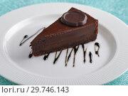 Купить «Chocolate cheesecake», фото № 29746143, снято 1 декабря 2018 г. (c) Stockphoto / Фотобанк Лори