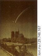 Купить «Donati Comet Over Notre-Dame.», фото № 29748167, снято 13 июля 2020 г. (c) age Fotostock / Фотобанк Лори