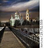 Купить «Таинство веры. Небо над монастырем», фото № 29752559, снято 3 апреля 2018 г. (c) oleg savichev / Фотобанк Лори