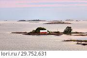 Summer evening on Aland Islands. Finland (2018 год). Стоковое фото, фотограф Валерия Попова / Фотобанк Лори