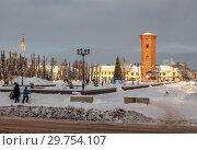 Старая Русса. Но Соборной площади (2019 год). Редакционное фото, фотограф Алексей Шаповалов (Стерх) / Фотобанк Лори