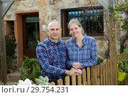 Купить «Outdoors portrait of spouses», фото № 29754231, снято 15 декабря 2018 г. (c) Яков Филимонов / Фотобанк Лори