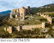Купить «Top view of the castle Castillo de Loarre. Huesca Province. Aragon. Spain», фото № 29754579, снято 2 декабря 2018 г. (c) Яков Филимонов / Фотобанк Лори