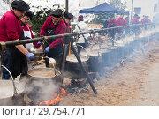 Купить «Feast of escudella, Castelltercol», фото № 29754771, снято 13 февраля 2018 г. (c) Яков Филимонов / Фотобанк Лори