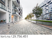Купить «Перспектива улицы с водным каналом и мощеная натуральным камнем», фото № 29756451, снято 15 октября 2014 г. (c) Elizaveta Kharicheva / Фотобанк Лори