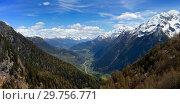 Купить «Snow mountains and valley in Switzerland», фото № 29756771, снято 15 мая 2017 г. (c) Михаил Коханчиков / Фотобанк Лори