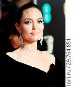 Купить «71st EE British Academy Film Awards (BAFTA) - Arrivals Featuring: Angelina Jolie Where: London, United Kingdom When: 18 Feb 2018 Credit: WENN.com», фото № 29764851, снято 18 февраля 2018 г. (c) age Fotostock / Фотобанк Лори