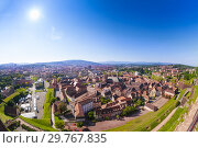 Купить «Scenic view of medieval Belfort city at sunny day», фото № 29767835, снято 25 мая 2017 г. (c) Сергей Новиков / Фотобанк Лори
