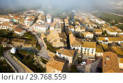 Купить «View from drone of Liedena, Navarre, Spain», фото № 29768559, снято 3 декабря 2018 г. (c) Яков Филимонов / Фотобанк Лори