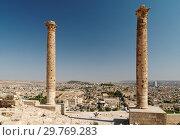 Купить «Ancient columns in citadel of Urfa, Turkey», фото № 29769283, снято 19 августа 2008 г. (c) Stockphoto / Фотобанк Лори