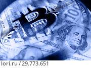 Купить «Economy trends virtual digital currency abstract background», фото № 29773651, снято 20 января 2019 г. (c) bashta / Фотобанк Лори